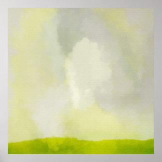 晴れた日ポスターを持つ芝生 ポスター