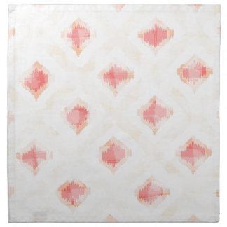 暖かいの険しいパターン ナプキンクロス