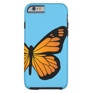 暖かいオレンジ色の輝きの蝶 ケース