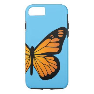 暖かいオレンジ色の輝きの蝶 iPhone 8/7ケース