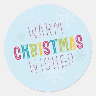 暖かいクリスマスの願い ラウンドシール