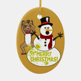 暖かいクリスマスメッセージ セラミックオーナメント