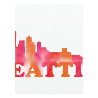 暖かいシアトルのスカイライン ポストカード