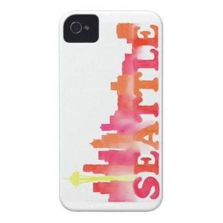 暖かいシアトルのスカイライン Case-Mate iPhone 4 ケース