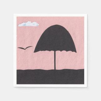 暖かいピンクの日没場面のカクテルのナプキン スタンダードカクテルナプキン
