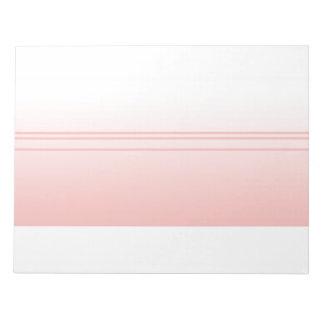 暖かいピンク。 シンプルでエレガントなデザイン ノートパッド