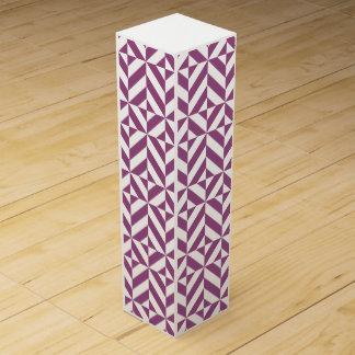暖かいブドウの幾何学的なDecoの立方体パターン ワインギフトボックス