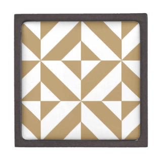 暖かいブラウン幾何学的なDecoの立方体パターン ギフトボックス