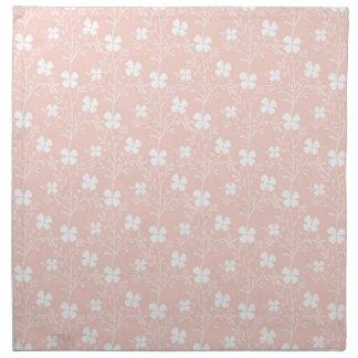 暖かいモモの花模様の布のナプキン(4)の置いて下さい ナプキンクロス
