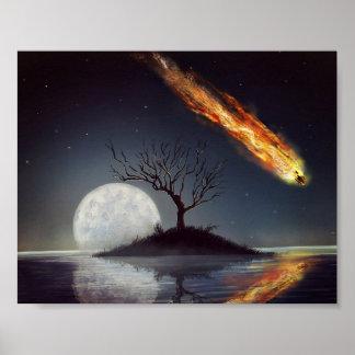 暖かいライトの縞 ポスター