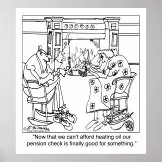 暖かい保つためにあなたの年金の点検を燃やして下さい ポスター