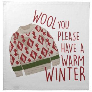 暖かい冬 ナプキンクロス