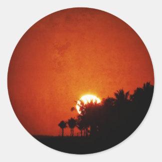 暖かい太陽セット ラウンドシール