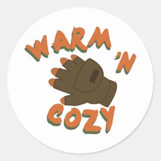 暖かい手袋 ラウンドシール