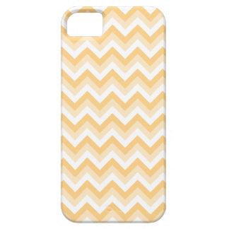 暖かい日焼け、ベージュ色および白のジグザグ形 iPhone SE/5/5s ケース
