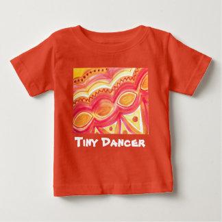 暖かい民族の感じの抽象的な水彩画 ベビーTシャツ