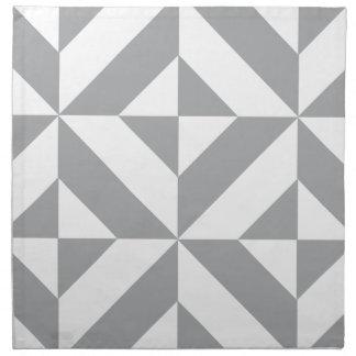 暖かい灰色の幾何学的なDecoの立方体パターン ナプキンクロス