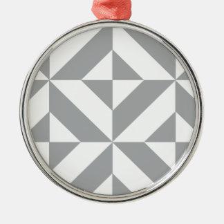 暖かい灰色の幾何学的なDecoの立方体パターン メタルオーナメント
