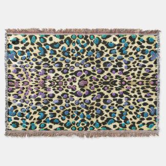 暖かい砂漠の空のヒョウのアニマルプリント毛布 スローブランケット