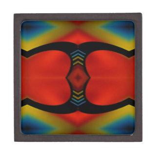 暖かい秋は芸術的な同世代の人の抽象芸術にある調子を与えます ギフトボックス