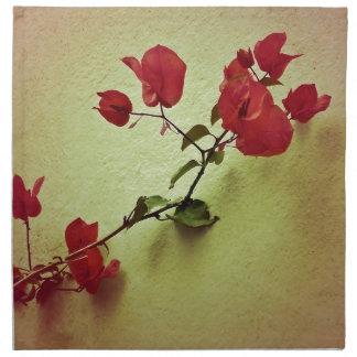 暖かい色の壁の写真のサンタリータの花 ナプキンクロス
