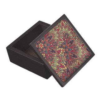 暖かい色の曼荼羅パターン ギフトボックス
