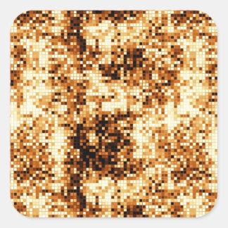 暖かい色の正方形のタイルの抽象的なパターン スクエアシール