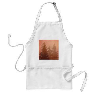 暖かい色の霧深いヒマラヤスギ木 スタンダードエプロン