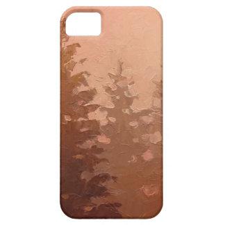 暖かい色の霧深いヒマラヤスギ木 iPhone SE/5/5s ケース