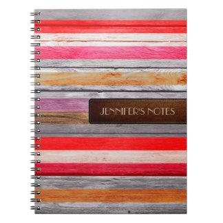 暖かい色木製のエレガントなレザールック#29 ノートブック