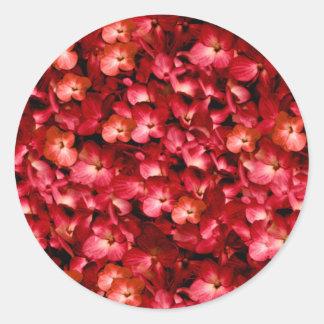 暖かい花のコラージュのプリント ラウンドシール