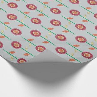 暖かい花の包装紙 ラッピングペーパー