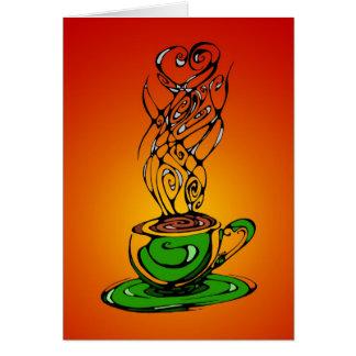 暖かい茶メッセージカード カード