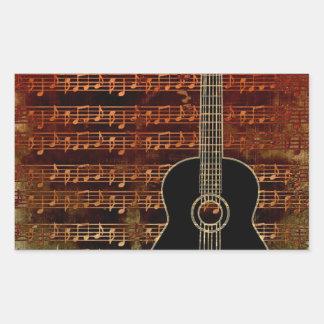 暖かい調子のギターID280 長方形シール