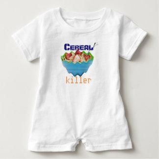 暖かい赤ん坊をとどまる穀物のキラー必要性 ベビーロンパース