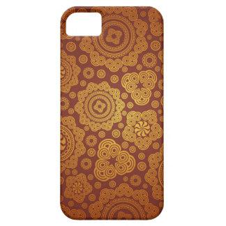 暖かい金ゴールドのペイズリーパターン iPhone SE/5/5s ケース