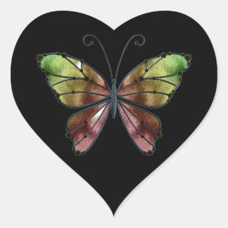 暖かい陰の虹によっては蝶が飛びます ハートシール