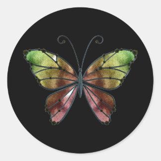 暖かい陰の虹によっては蝶が飛びます ラウンドシール