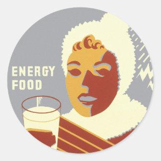 暖かさのためのミルク ラウンドシール