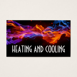 暖房および空気調節の名刺 名刺