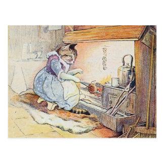 暖炉による猫猫の調理師 ポストカード