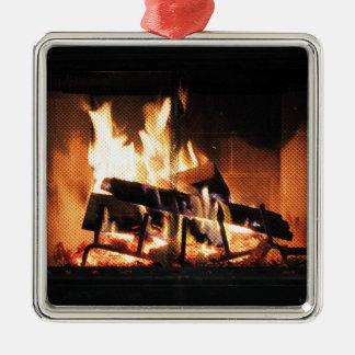 暖炉のクリスマスのオーナメント メタルオーナメント