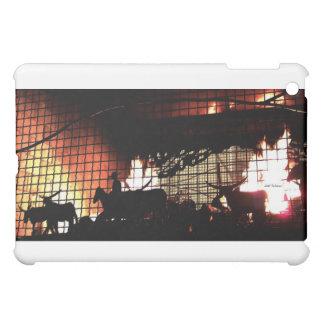 暖炉のシルエット iPad MINIカバー