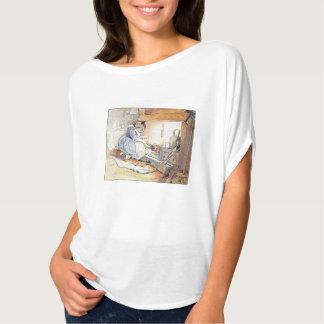 暖炉の猫猫の料理 Tシャツ