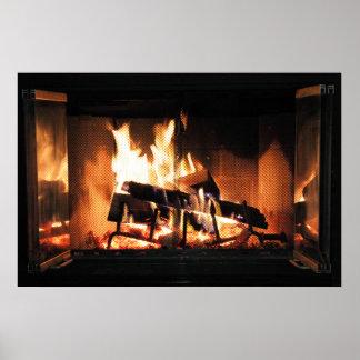 暖炉ポスター プリント