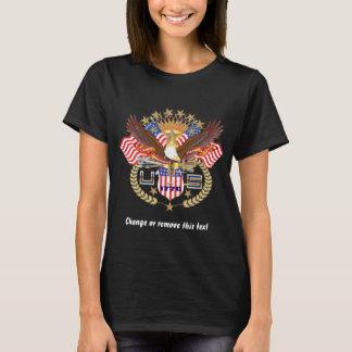 暗いだけ愛国心が強い女性の前部すべてのスタイル Tシャツ