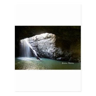 暗いアーチの滝 ポストカード