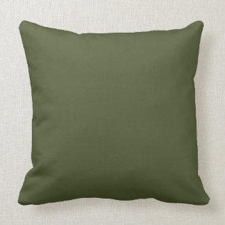 暗いオリーブ色の軍隊の緑のモダンな色4だけ クッション
