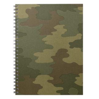 暗いカムフラージュの螺線形ノート ノートブック