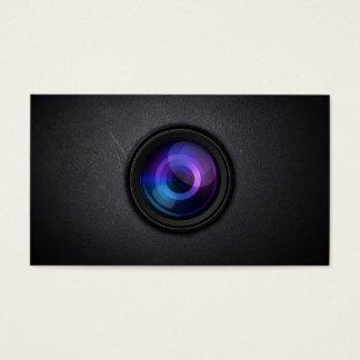 暗いカメラレンズのカメラマンの名刺 名刺